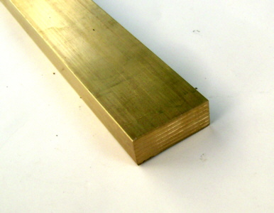 Messing flach <b> 25x 5mm</b> L= 100mm