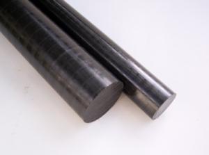 POM schwarz rund  10mm L= 240mm